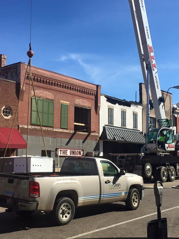 new hvac units at the union in athens, ohio