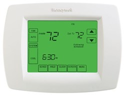 photo of honeywell thermostat