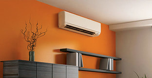 photo of ductless hvac in room