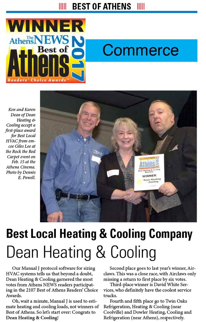athens news best local heating and cooling company ad